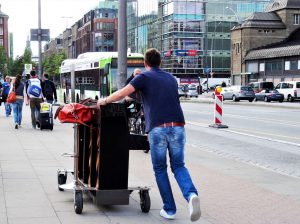 Hire professionals when moving a piano