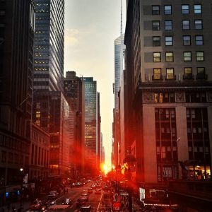 New York in sunset