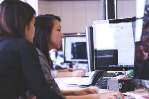 Women working in the office