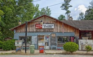 A typical general store you will get used to after moving to Alabama.