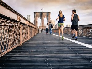 People running in NYC to prove that exercise is the best way to stay healthy after moving to NYC