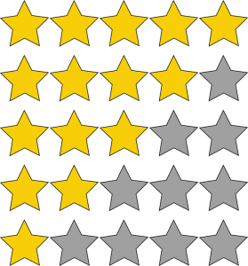 Rows of stars symbolizing customer experience.