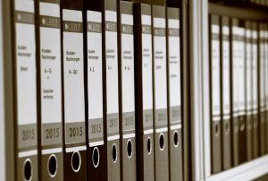Row of office files