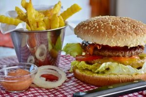 Delicious burgers which are an essential part of living in Woodside.