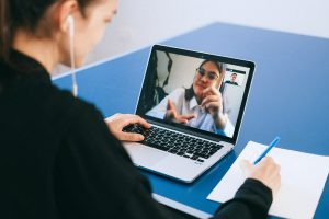 A conversation with a real estate agent via Skype - one of the things you can do to find your dream home online.