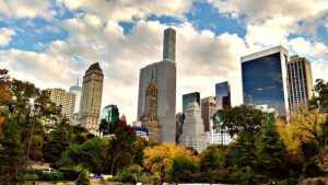 New York City from Central Park.