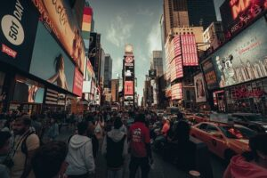 New York City, the crowd - Learn how to mentally prepare when leaving Pierre, South Dakota for NYC.