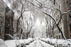 Street, snow.