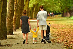 A family walking.