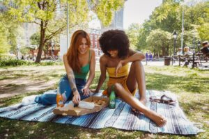 A picnic after buying a Midtown Manhattan apartment