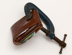 Wallet with money.