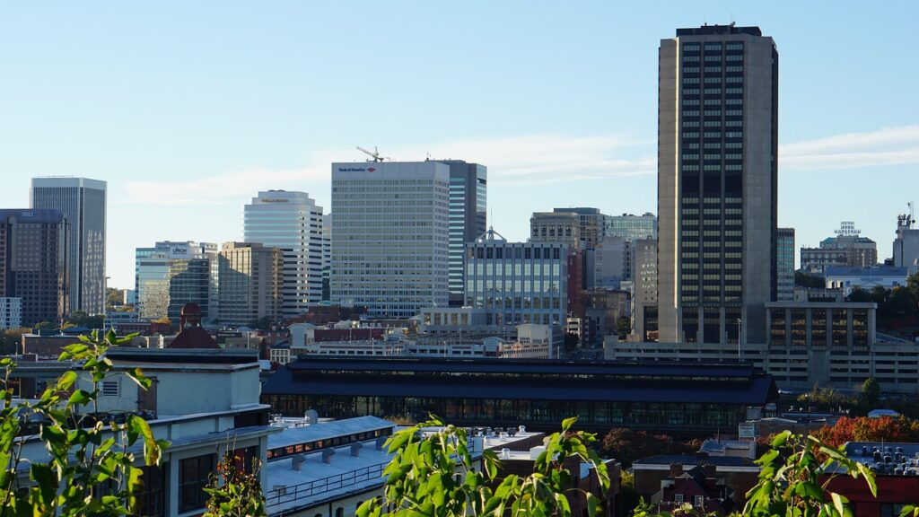 Richmond city view. This city has a lot of business options and it is one of the reasons to expand your business to Virginia.