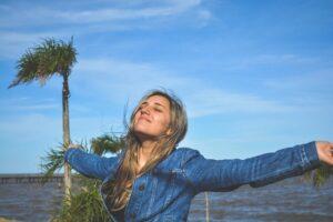 A girl enjoying life in Miami